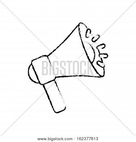 Bullhorn announce device icon vector illustration graphic design