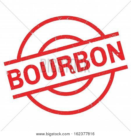 Bourbon rubber stamp. Grunge design with dust scratches. Effects can be easily removed for a clean, crisp look. Color is easily changed.