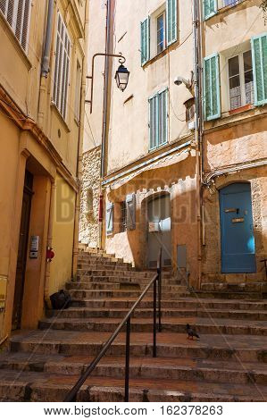 Steep Stairs In The Old Town Of Cannes