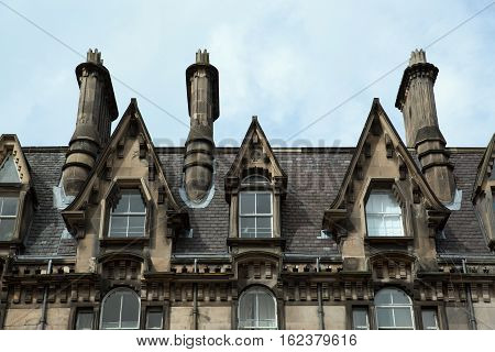 Dormers At An Old Building In Edinburgh