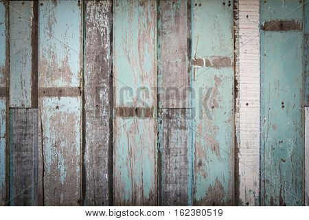 Blue Striped Plank Wood Background