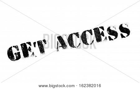 Get access stamp. Grunge design with dust scratches. Effects can be easily removed for a clean, crisp look. Color is easily changed.