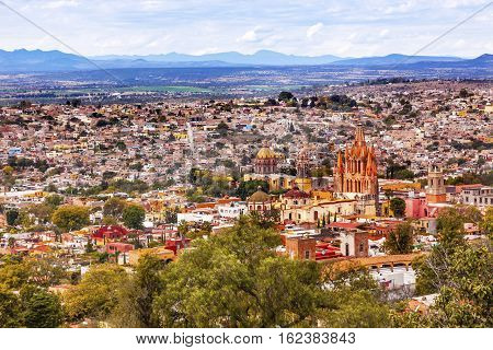 San Miguel de Allende Mexico Miramar Overlook Parroquia Archangel Churches Houses
