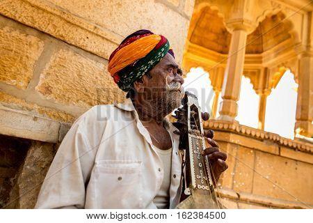 Rajastani senior man in Jaisalmer, India