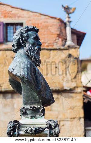 Bust Of Benvenuto Cellini In Florence, Italy