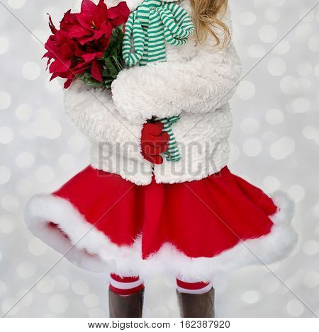 Christmas beautiful picture. fir. snow. Merry Christmas! 25th December. happy Holidays. Santa Claus