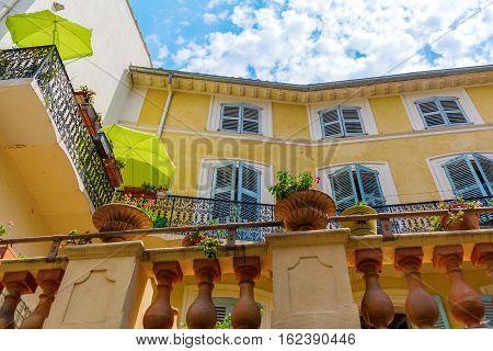 Mediterranean Style Building In Antibes