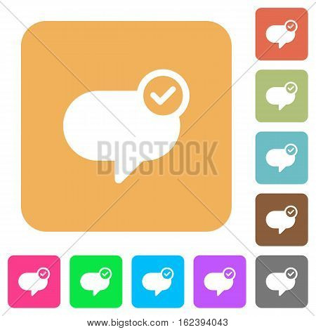 Message sent icons on rounded square vivid color backgrounds.