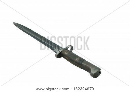 A military bayonet isolated on a white background