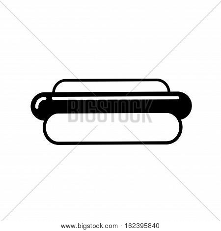 Hot dog outline icon. Thin line icon of sosige with bun. Single symbol for web design or mobile app. Outline vector sing for design logo, visit card, corporate identity.