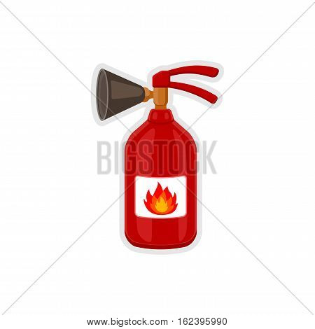 Fire extinguisher icon cartoon style. Equipment for fire-extinguishing. Vector icon illustration of isolated on white background.