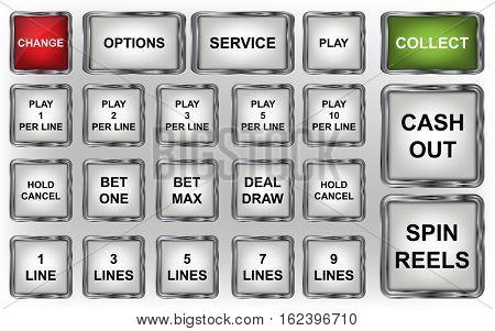 slot machine buttons