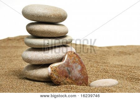 stones and heart