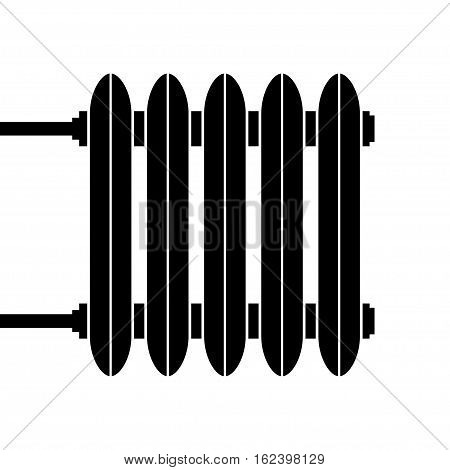 Heating radiator. Cast-iron radiator for heating systems. Vector illustration.
