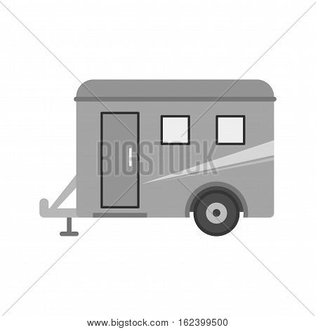 Trailer, truck, travel icon vector image. Can also be used for travel. Suitable for use on mobile apps, web apps and print media.