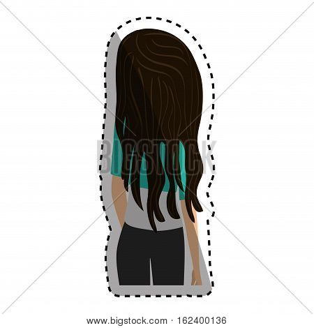 Young woman body icon vector illustration graphic design
