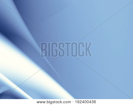 Blue abstract fractal background with spatial effects. For technical business industrial projects and designs templates layouts pamphlets book covers presentations desktop phone background.