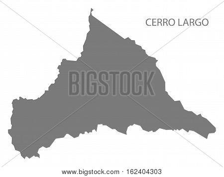 Cerro Largo Uruguay Map in grey department silhouette illustration