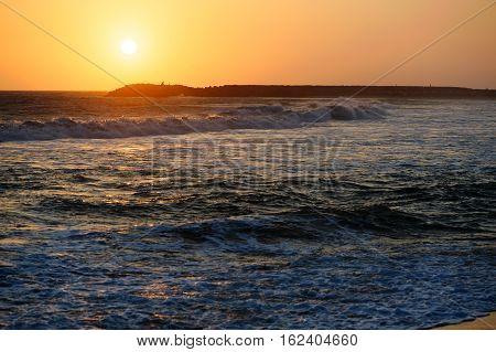 Sunset view point in Kanyakumari Tamil Nadu state India