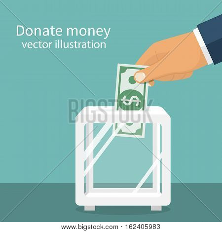 Donation Box, Dollar Hold