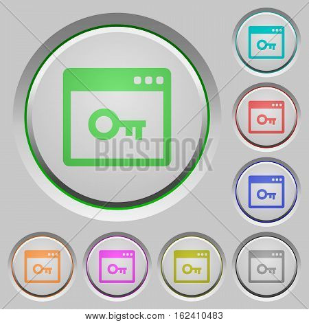 Lock application color icons on sunk push buttons