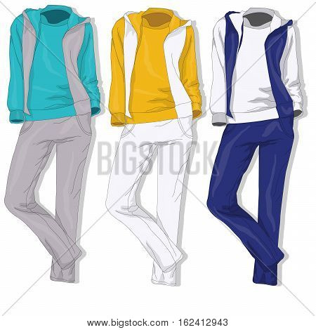 Sport suit - fashion clothes image isolated.
