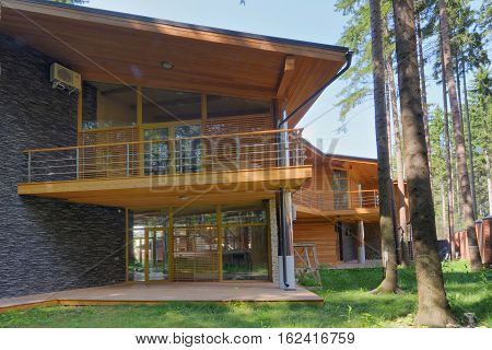 Russia,Moscow region country house Chalet in the woods in the elite residential