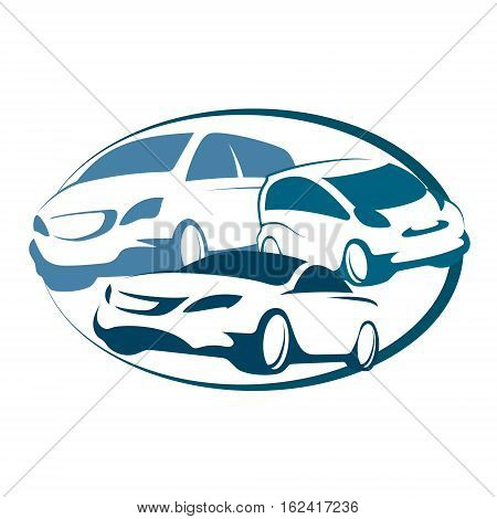 Auto rental sign for business vector design