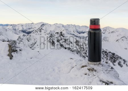 Thermos In The Mountains.