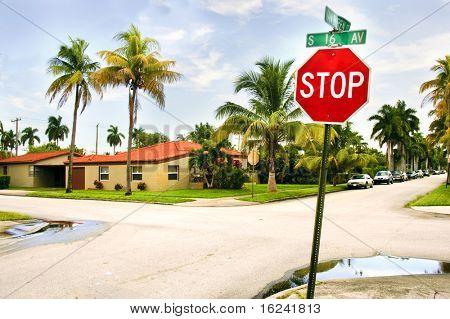 a view of Miami Beach, Florida, USA