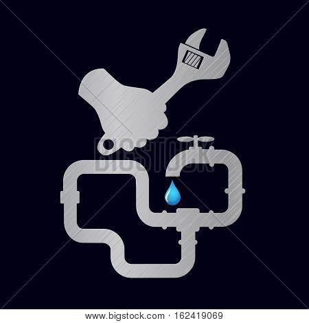 Repair of plumbing pipes and plumbing fixtures vector