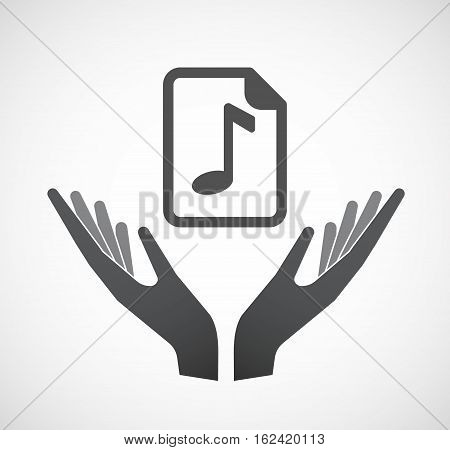 Isolated Hands Offering  A Music Score Icon