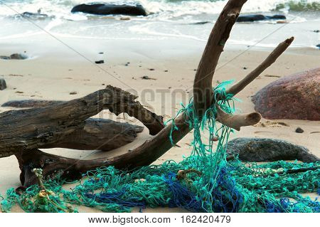 fishing net marine net for catching fish nets on the shore confused network