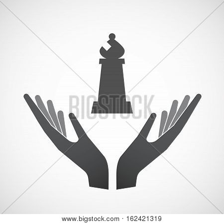 Isolated Hands Offering A Bishop    Chess Figure