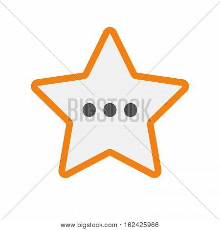 Isolated Star With  An Ellipsis Orthographic Sign