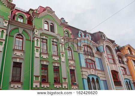 Beautiful multi-colored scrap in a classic style. Architecture