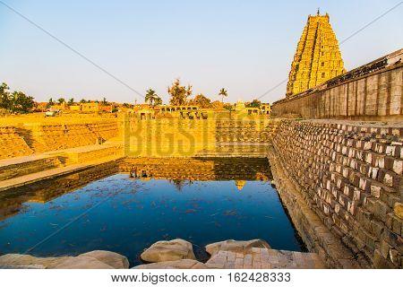 Historical palace in Hampi, India, Unesco world heritage site