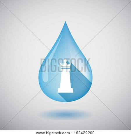 Isolated Water Drop With A  Queen   Chess Figure