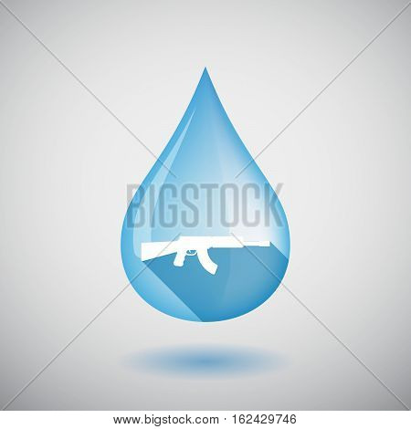 Isolated Water Drop With  A Machine Gun Sign