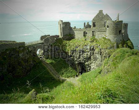 Dunluce Castle, County Antrim, Northern Ireland, UK
