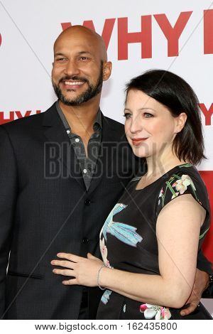 LOS ANGELES - DEC 17:  Keegan-Michael Key, Elisa Pugliese at the