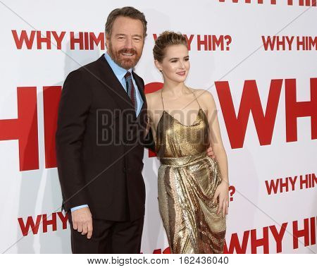 LOS ANGELES - DEC 17:  Bryan Cranston, Zoey Deutch at the