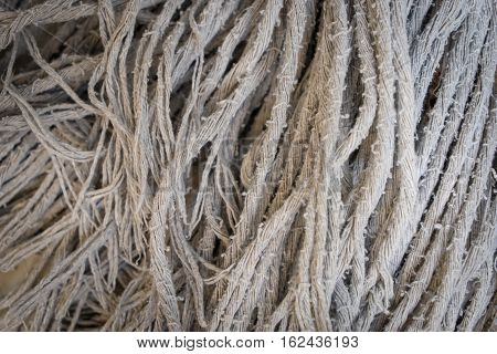 dirty mop head cleaner for texture background.