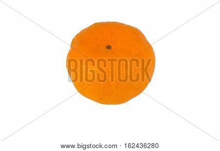 Single orange is isolated on white background with clipping path.