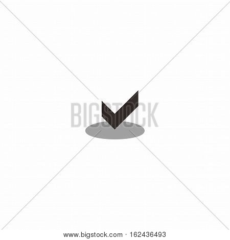 Check logo template, symbol check with circle logo