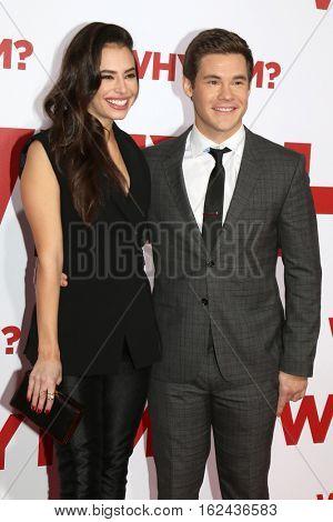 LOS ANGELES - DEC 17:  Chloe Bridges, Adam Devine at the