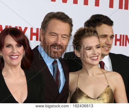 LOS ANGELES - DEC 17:  Megan Mullally, Bryan Cranston, Zoey Deutch, James Franco at the