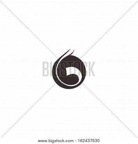 Letter b in circle Logo, shape logo template