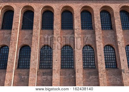 West side of the Basilica of Constantine, or Aula Palatina, at Trier, Germany