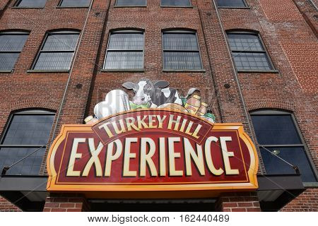 COLUMBIA, PA - OCT 9: Turkey Hill Experience in Columbia, PA, as seen on Oct 9, 2016. The 17,000-square-foot attraction opened in 2011 and pays homage to Turkey Hill's history while highlighting its ice cream and iced tea-making processes.